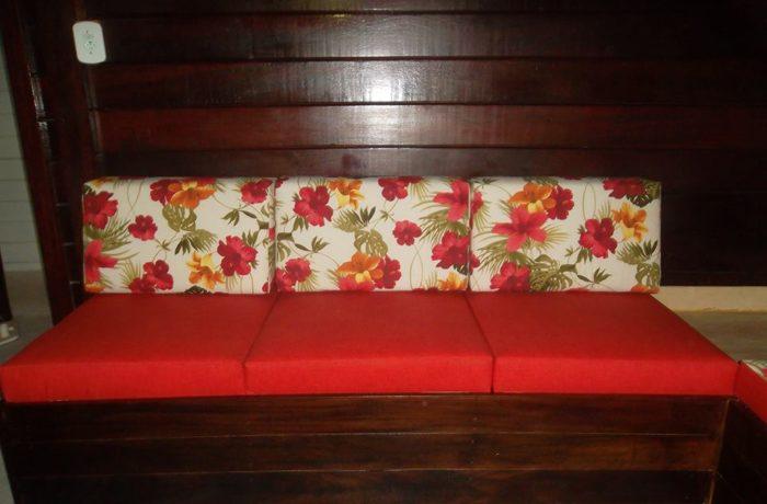 Almofadas Feita Sob Medida Tecido Impermeável Maracaípe Vermelho e Duna Vermelho