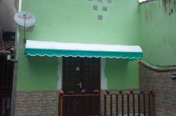 Fabricação de Toldo Fixo em Tecido Lona  Branco com Abas Verde