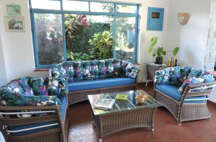 Almofadas sob medida com Igapó Azul e Linum Azul